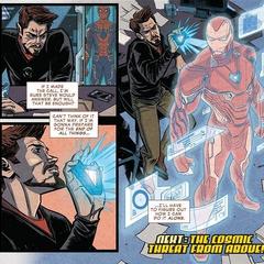 Stark comienza a trabajar en el Mark L.