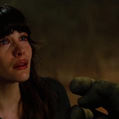 Elizabeth antes de tomar caminos separados con Hulk.