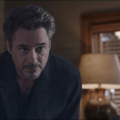 Mensaje holográfico de Stark dirigido a su hija.