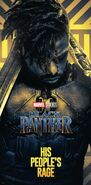 Gold Black Panther Poster 03