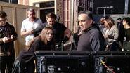 Jeremny Renner on set Civil War pic 01
