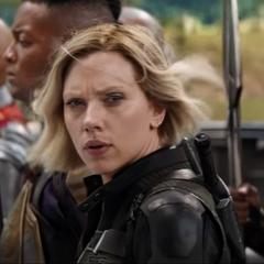 Romanoff junto con el ejército Wakandiano.