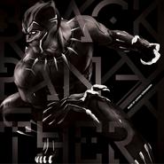 Black Panther Soundtrack Vinyl Cover