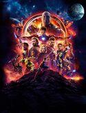 Avengers Infinity War textless poster art