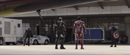 Black Panther, War Machine, Iron Man & Captain America