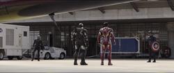 Black Panther, War Machine, Iron Man & Captain America
