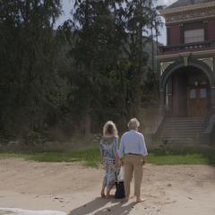 Pym y Janet se instalan en una playa.