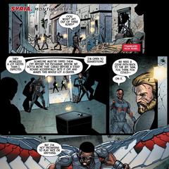 Romanoff y el equipo se esconden durante el tiroteo.