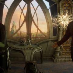 Gamora a punto de abandonar a Quill.