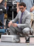 On set The Avengers 7