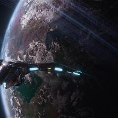 Los Vengadores llegan a Titán II.