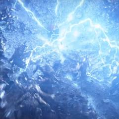 Thor elimina a los Outriders con el Rompetormentas.