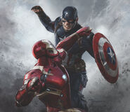Captain America Civil War - Concept Art - Captain America Vs. Iron Man