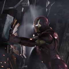 Stark ayuda a reparar las turbinas.