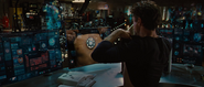 Tony checks his reactor (Iron Man 2)