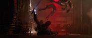 Hawkeye slicing Outrider