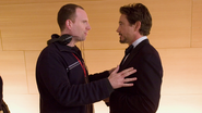 Kevin Feige & Robert Downey Jr. (Iron Man 2008 BTS)