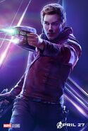 Avengers Infinity War Star-Lord Poster