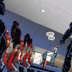 Rhodes aprende sobre la Legión de Hierro de Stark.