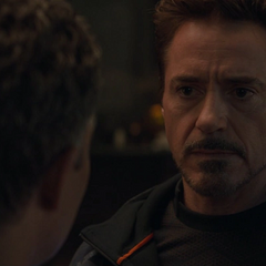 Stark le informa a Banner del estado actual de los Vengadores.