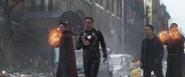 Doctor Strange, Tony Stark, Bruce Banner & Wong