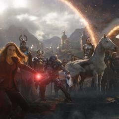 Korg se une a Miek, Brunnhilde, Maximoff y los Asgardianos en la Batalla de la Tierra.