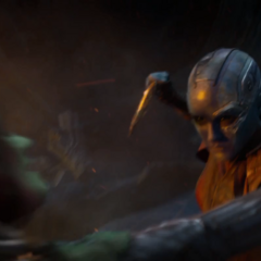 Nebula vence por primera vez a Gamora en una batalla.