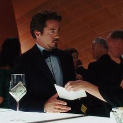 Everhart le muestra las fotografías a Stark.