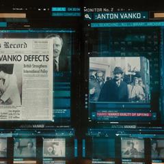 J.A.R.V.I.S. le muestra a Stark los archivos y expedientes relacionados con Anton Vanko.