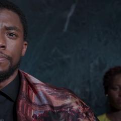 T'Challa a punto de revelar la tecnología de Wakanda.