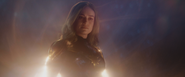 Captain Marvel saves Iron Man