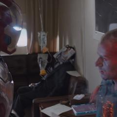 Savin es asesinado por Stark.