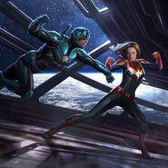 Captain Marvel vs Yon-Rogg - Concept Art