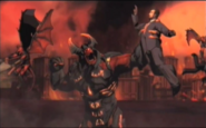 Fire Demons attack Earth