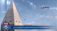 Man Spider Climbs Washington Monument (FOX 5 News Report)