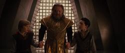 Odín con Thor y Loki niños