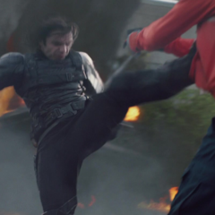 Barnes elimina a los agentes de S.H.I.E.L.D.