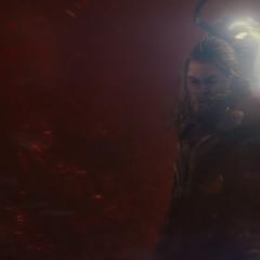Thor a punto de acabar con Malekith.