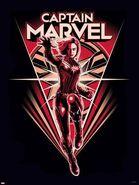 CaptMarvel Red Poster