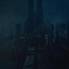 Jotunheim queda devastado después de la guerra.