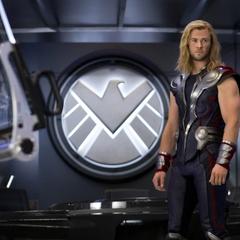 Thor a bordo en el Helicarrier.