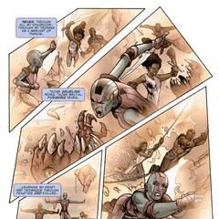 Gamora destaca en su entrenamiento sobre Nebula.