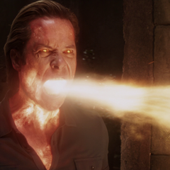 Killian usa sus poderes para detener a Rhodes.