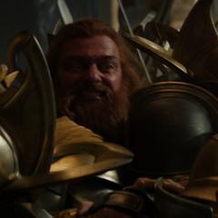Volstagg es aplastado por los Einjerhar.