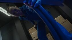 Coulson rips out a cable