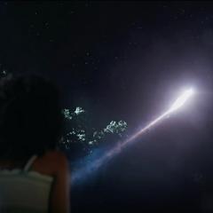 Monica ve a Danvers volar hacia el espacio.