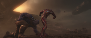 Iron Man fights Thanos