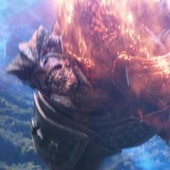 Obsidian se estrella en el escudo de Wakanda.
