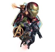 Endgame promo art captmarvel rocket Ironman WarMachine
