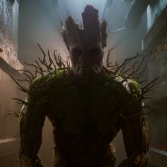 Groot se prepara para la Batalla de Xandar.